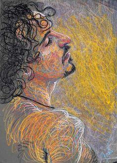 Edwin by Fred Hatt, 2008, aquarelle crayon on paper, 29 1/2 x 19 3/4. Collection the artist.
