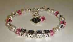 BIG SIS Bracelet  Swarovski Pearls & by CrystalConnections4U, $34.99
