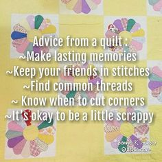 Oh, the things a quilt can teach us! Have a wonderful Sunday, everyone! Vintage Dresden plate quilt found in North Carolina. . . #quilt #quilting #patchwork #quiltville #bonniekhunter #vintagequilt #antiquequilt #deepthoughts #wisewords #wordsofwisdom #quiltvillequote #quote #inspiration #scrapquilt #dresdenplatequilt #dresdenplate