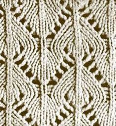 Spades lace Knitting Stitch. More Great Patterns Like This