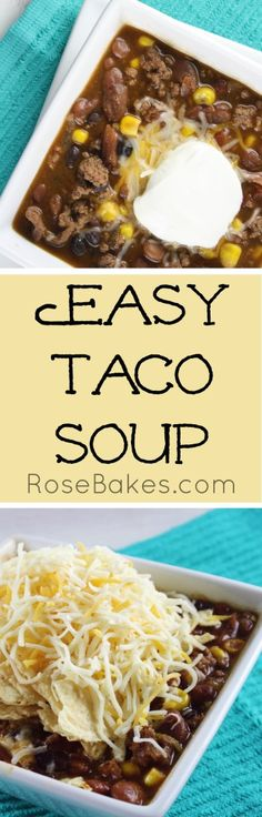 Easy Taco Soup Recip