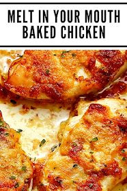 Mother Recipes: Melt in Your Mouth Baked Chicken Baked Chicken Marinara, Best Baked Chicken Recipe, Oven Chicken, Baked Chicken Wings, Baked Chicken Breast, Chicken Cordon, Chicken Legs, Chicken Tenders, Entree Recipes