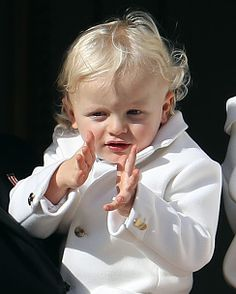 Prince Jacques appears on the balcony of the Monaco Palace during the celebrations marking Monaco's National Day, on November 19, 2016 in Monaco.