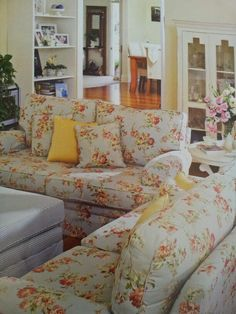 Floral couches.
