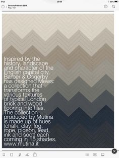 Mews at Mutina - from Elle Decor UK