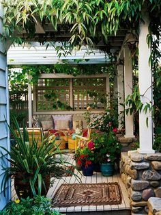 patio blinds ideas garden privacy protection screens climbing plants: Privacy Screens, Outdoor Rooms,