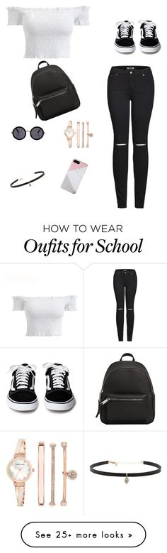 """School Outfit"" by rahmamunir-1 on Polyvore featuring 2LUV, The Row, MANGO, Anne Klein and Carbon & Hyde"