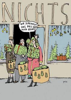 NICHTS zu Weihnachten - Postkarte zu Weihnachten