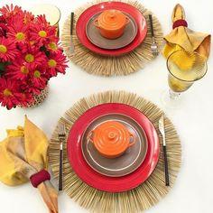 Usar um toque rústico  e cores quentes são ótimas opcões para investir em uma mesa de outono!  #mesaposta #mesahits #lardocemesa #lardocecasa #semanamesahits_outono