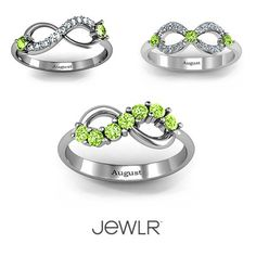 A new month means a new birthstone! Personalize your #InfinityJewelry by adding #Peridot! #DIY