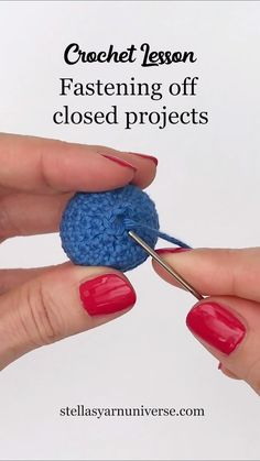This is a useful technique to neatly and securely close (parts of) your Amigurumi or stuffed cuddly toys. It works if you finish your project with a small round. ideen baby videos Fastening off closed crochet projects Learn To Crochet, Diy Crochet, Crochet Crafts, Crochet Projects, Crochet Fruit, Bead Crochet, Sewing Projects, Diy Crafts, Crochet Patterns Amigurumi