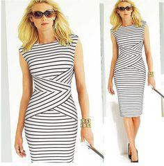 Slimming Striped Dress