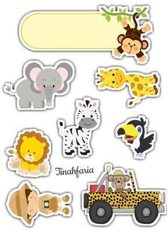 de Bolo Safari para editar e imprimir grátis - Mimo KidsTopo de Bolo Safari para editar e imprimir grátis - Mimo Kids Jungle Theme Birthday, Jungle Party, Safari Party, Safari Theme, Safari Cakes, Jungle Animals, Baby Animals, Mini Albums, Cake Toppers