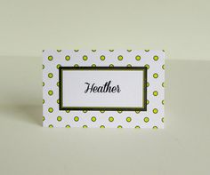 Tent Style Paper Place Cards Set of 10 Polka by IdAndEgoCreations, $6.50