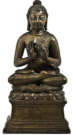 7th century, Kashmir, buddha Shakyamuni, brass, published by John Siudmak