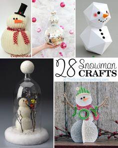 Adorable snowmen to DIY, from The Scrap Shoppe Blog.