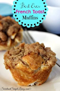 Best Ever French Toast Muffins It's a snack, it's breakfast, it's a dessert. These Best Ever French Toast Muffins are great for any time of the day. Breakfast And Brunch, Breakfast Dishes, Breakfast Recipes, Breakfast Ideas, Easy Breakfast Muffins, Breakfast Casserole, Zucchini Muffins, Muffins Blueberry, Almond Muffins