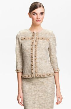 St. John Collection Shimmer Knit Jacket available at #Nordstrom