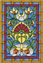Stained Glass Pattern Victorian