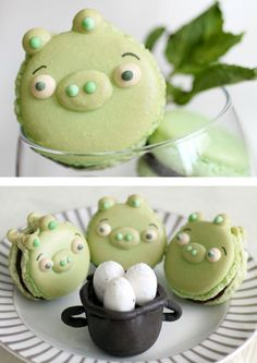 Angry Birds, Green Pigs macaroons