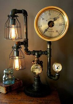 I don't personally decorate or style my home with SteamPunk designs but this sure struck a chord with my styling sense.. I like it!