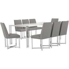 Simple style goes a long way with the Neo side dining chair. Impeccably tailored with a glossy stainless steel base, this chair brings your modern dining room to life. Upholstered Dining Chairs, Dining Room Chairs, Side Chairs, City Furniture, Industrial Furniture, Simple Style, Dining Sets, Gray, Modern
