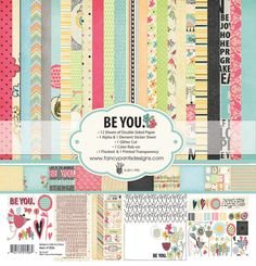 Fancy Pants Designs - Be You Collection - 12 x 12 Paper Kit, $25.99