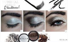 Inspiração com as makes Stein Make Up. Sombras lindas, super pigmentadas.