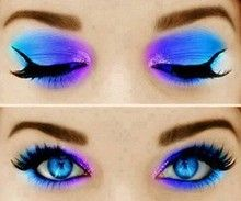 Fluorescent neon eyeshadow
