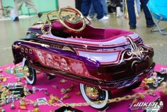 Pedal car with Custom paint Lowrider Toys, Bicycle Pedals, Bike, Radio Flyer Wagons, Power Cars, Kids Ride On, Pedal Cars, Cute Cars, Prams