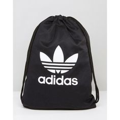adidas Originals Drawstring Backpack With Trefoil Logo ($26) ❤ liked on Polyvore featuring bags, backpacks, black, drawstring backpack bag, adidas, cotton drawstring backpack, cotton drawstring bags and drawstring rucksack