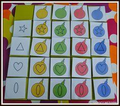 Matrix Christmas Math, Preschool Christmas, Christmas Activities, Christmas Themes, Toddler Activities, Learning Activities, Montessori Classroom, Classroom Decor, Matrix