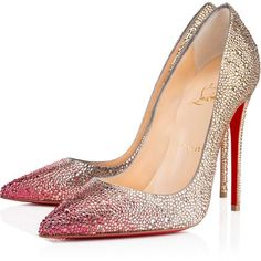 Christian Louboutin So Kate Strass (25.370 VEF) ❤ liked on Polyvore featuring shoes, pumps, heels, christian louboutin, louboutin, topaz, stiletto heel pumps, high heels stilettos, pointed toe high heels stilettos and christian louboutin shoes
