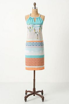 Inkjet Halter Dress #anthropologie