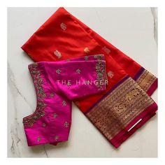 Pattu Saree Blouse Designs, Half Saree Designs, Fancy Blouse Designs, Bridal Blouse Designs, Blouse Back Neck Designs, Hand Work Blouse Design, Computer Works, Maggam Works, Kanjivaram Sarees