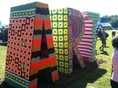 KnittaPlease, yarn graffiti, at Austin City Limits...