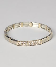 Cure any case of the jewelry box blues with this stunning bracelet. Featuring hints of sparkle atop a polished finish, it's a work of art sure to turn any style frown upside down.