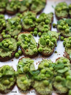 Pea Crostini by Bitter-Sweet-, via Flickr check out this 8 course pop-up vegan meal by Jay's kitchen...ohmydog!