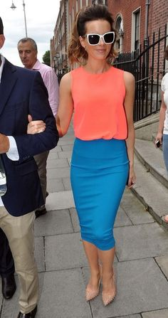 Fabulously Spotted Kate Beckinsale In HM And Diane Von Furstenberg At RTE TV Studios Stunned This Outfit A Couple