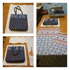 A Little Dancer: Vera Bradley Bag Tutorial Vera Bradley Patterns, Handbag Patterns, Vera Bradley Purses, Quilted Bag, Sewing Projects, Sewing Ideas, Sewing Patterns, Purses And Handbags, Dancer