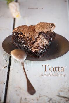 Torta al cioccolato e meringa (per la serie, l'irrinunciabile dose di cioccolato estivo) | Mon petit bistrot