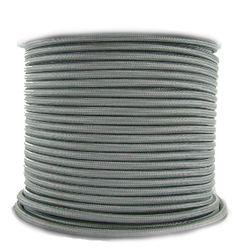 Nostalgic Bulbs - 3 Conductor Silver Cloth Covered Cord - Per Foot, $1.65 (http://www.nostalgicbulbs.com/3-conductor-silver-cloth-covered-cord-per-foot/)