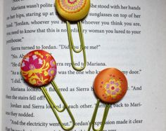 CLEARANCE Daily Planner Clips Handmade by thejellybeanstudio