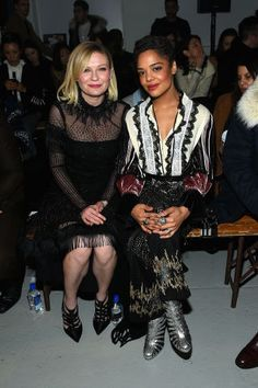 Celebrities at Fashion Week: Kirsten Dunst and Tessa Thompson At Rodarte