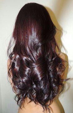 Dark chocolate cherry hair color