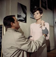 """Richard Crenna and Audrey Hepburn in the suspense film """"Wait Until Dark"""" (1967)."""