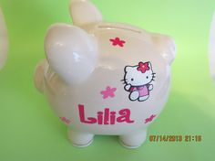Personalized Hello Kitty inspired bank