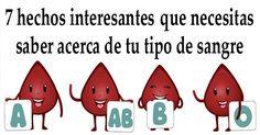 7 datos de interés que necesitas saber acerca de tu tipo de sangre! - ConsejosdeSalud.info