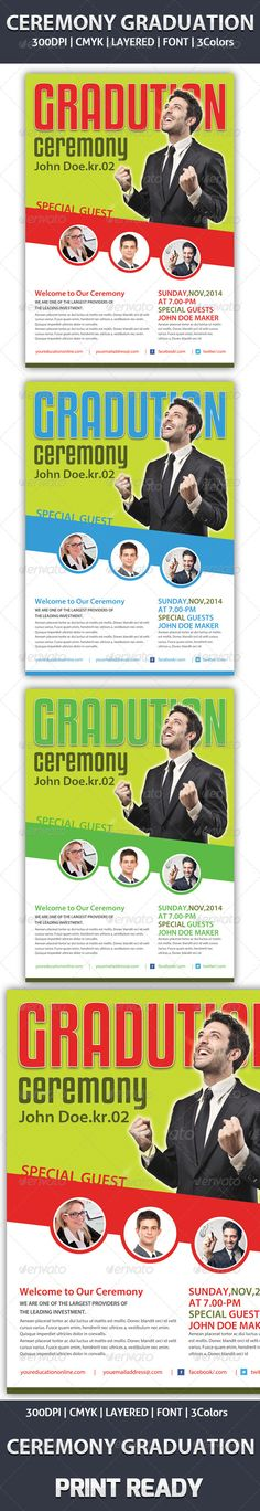 Graduation Ceremony Flyer  Ad Template Graphicriver Graduation