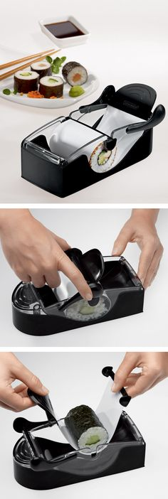 Perfect sushi roll making machine #product_design